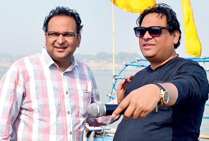 Writer Dhiraj Mishra (L) and Manoj Giri, the director (BCCL/ Pankaj Singh)