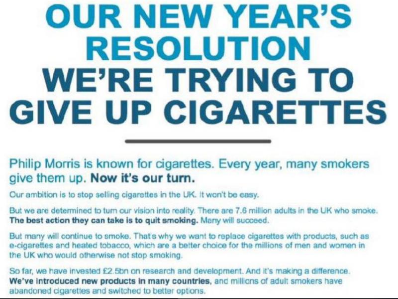 Philip Morris: Marlboro-maker Philip Morris' new year