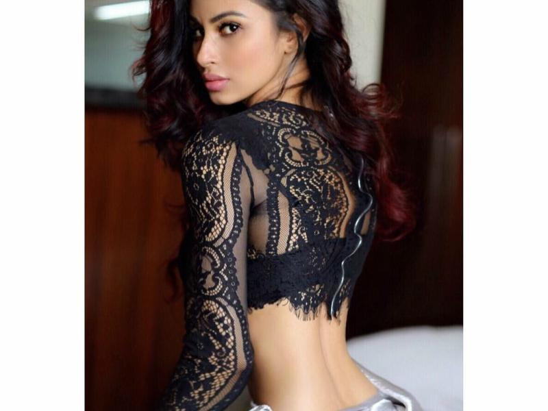 Mouni Roy Picture in Hot Black Top