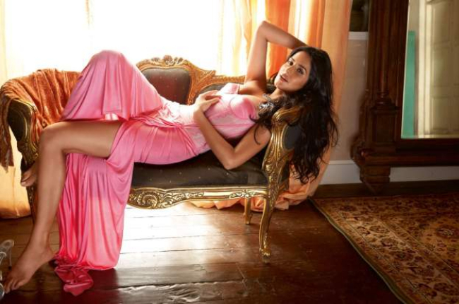 Katrina Kaif in Pink Hot Nightdress