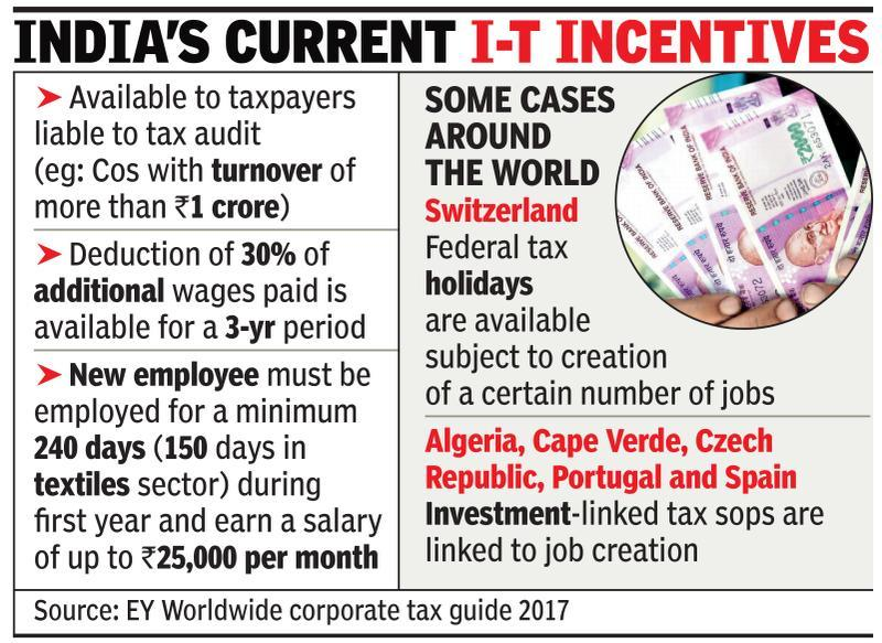 Budget 2018: Govt may tweak income tax laws for job creation