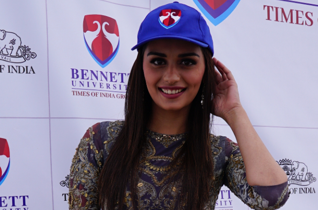 Manushi Chhillar visits Bennett University