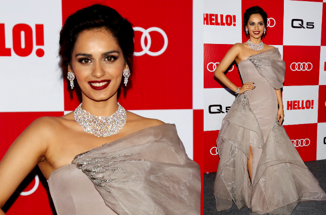 Manushi Chhillar at Hello Audi Q5 launch