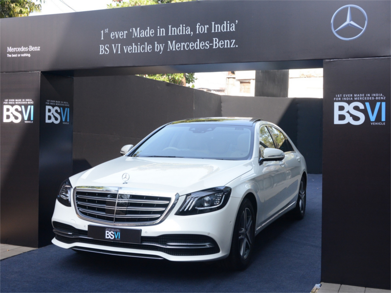 mercedes: Mercedes unveils India\'s first, locally made BS-VI car ...