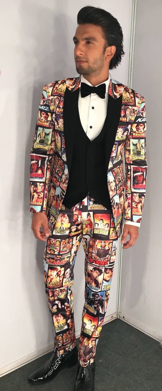 ranveer singh in bollywood themed suit