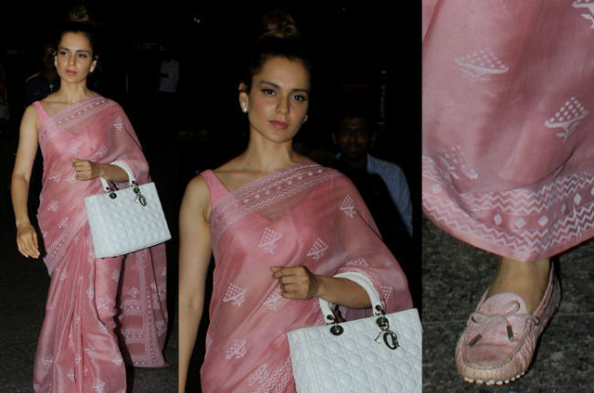 Kangana Ranaut's pink sari