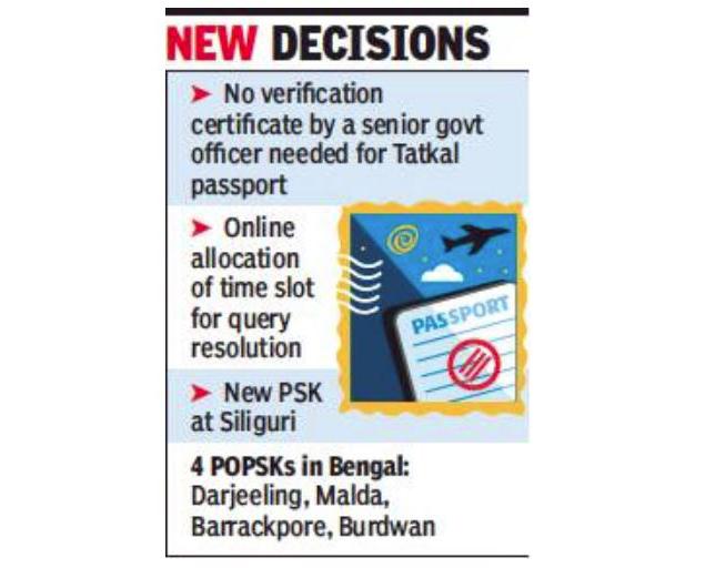 Tatkal Passports Wont Need Verification Certificate Kolkata News
