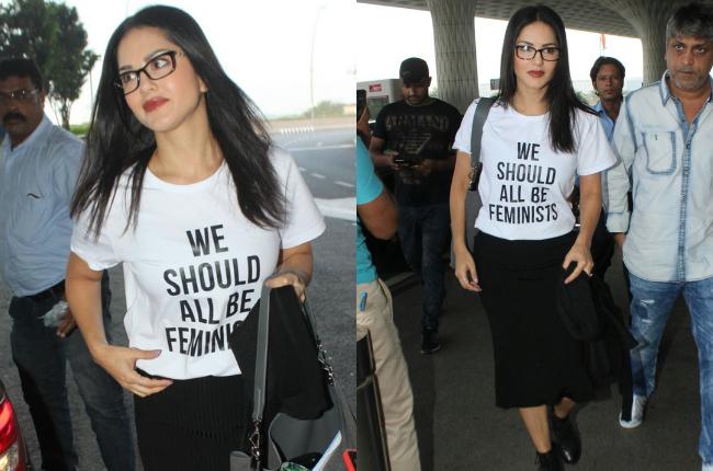 Sunny Leone T-shirt pics