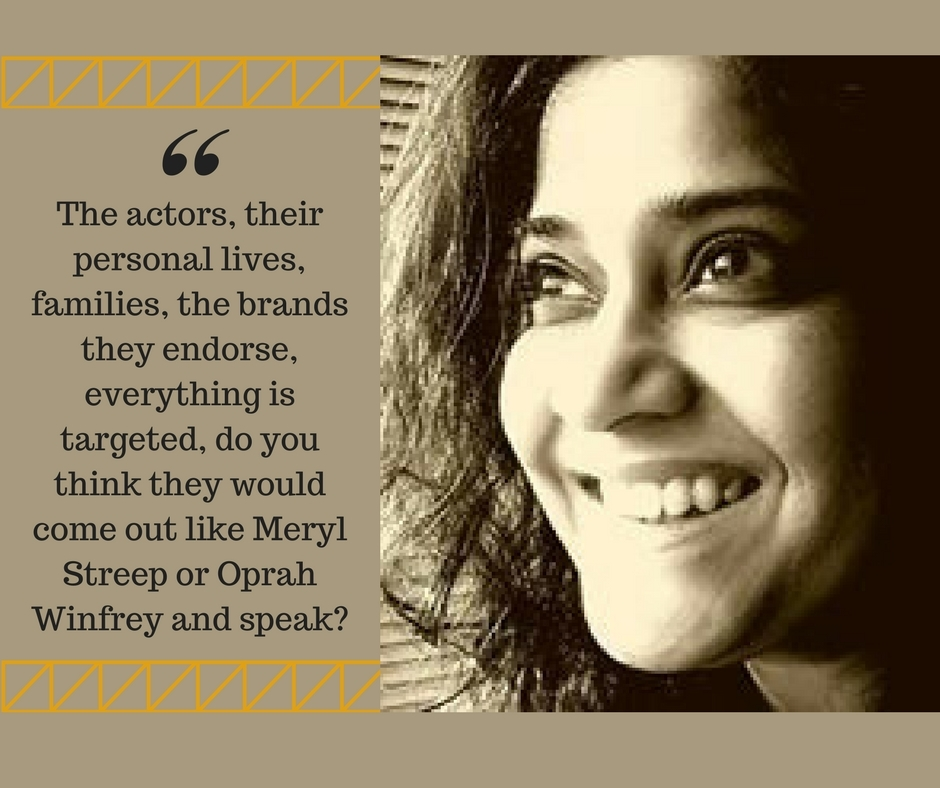 Renuka Shahane on why Bollywood does not take a stand