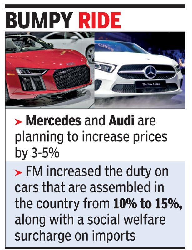 Luxury Car Companies Give Pre Budget Pricing Deals Times Of India