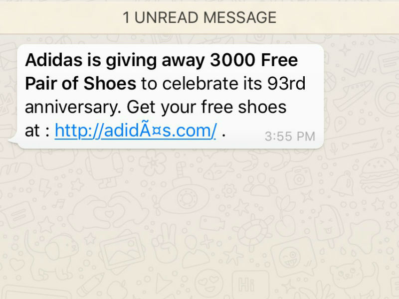 Adidas: 'Free Adidas shoes': Don't fall for it, it's a scam ...