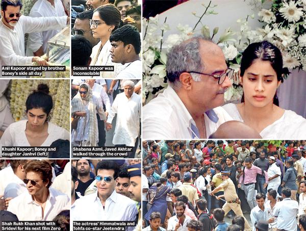 The final journey of Sridevi