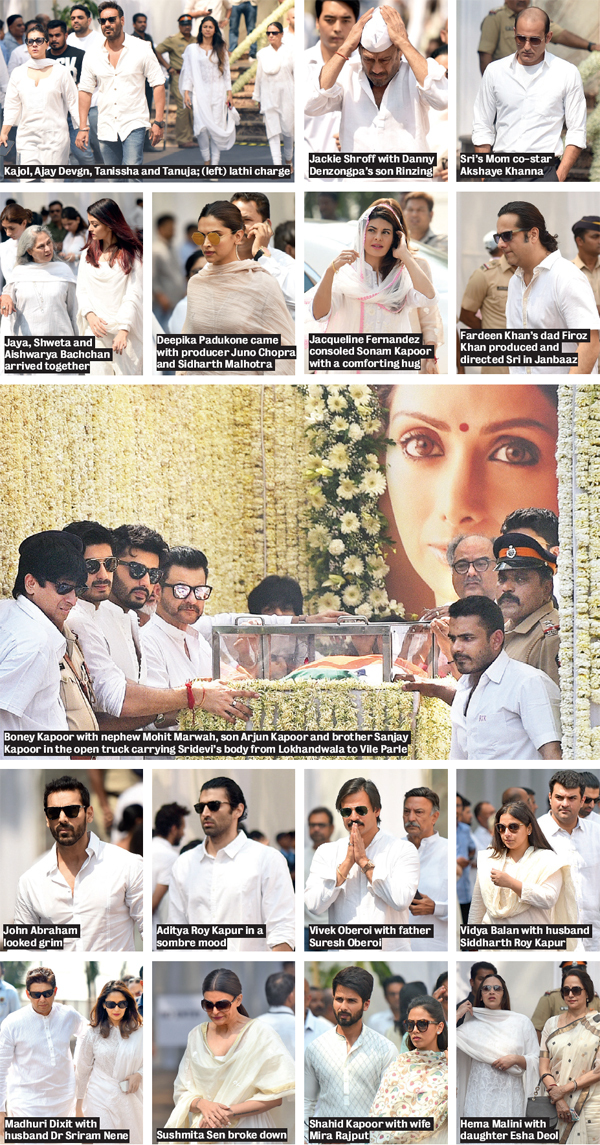 Katrina Kaif, Shraddha Kapoor and many others attended the funeral of the legendary actress
