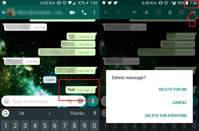 how to delete whatsapp messages permanently android