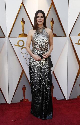 Sandra Bullock at the Oscars. Photo by Reuters