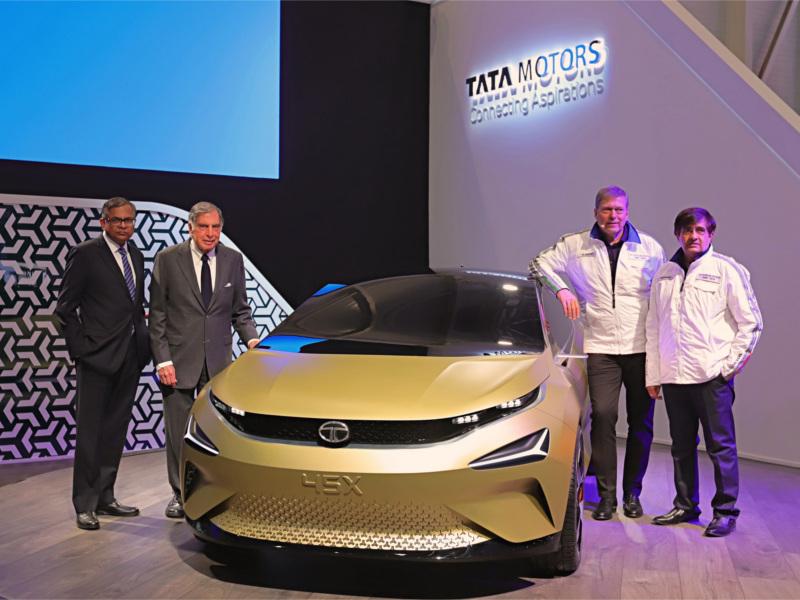 Tata Electric Car Tata Motors Unveils E Vission Electric Sedan Concept