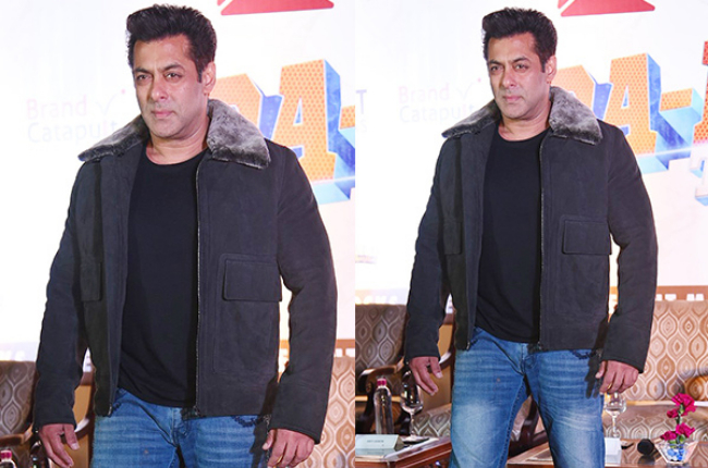Salman khan in winter's wear