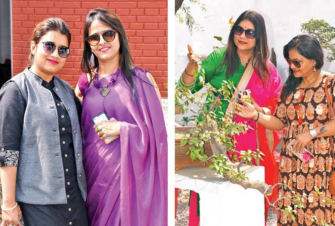 Gauri Sawariya and Ragini Dixit (R) Madhu Subhash and Shiva Pandey (BCCL/ Vishnu Jaiswal)