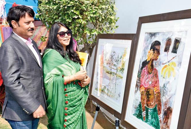 Ajaish (L) and Sangita Jaiswal (BCCL/ Vishnu Jaiswal)