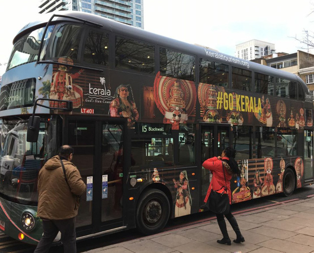 Kerala Tourism Now London Buses Promote Kerala Tourism