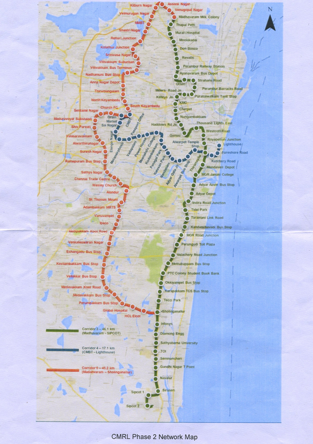 Chennai City Road Map Pdf