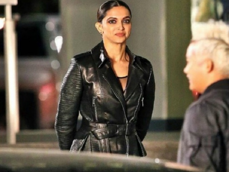Deepika Padukone in black leather from xXx