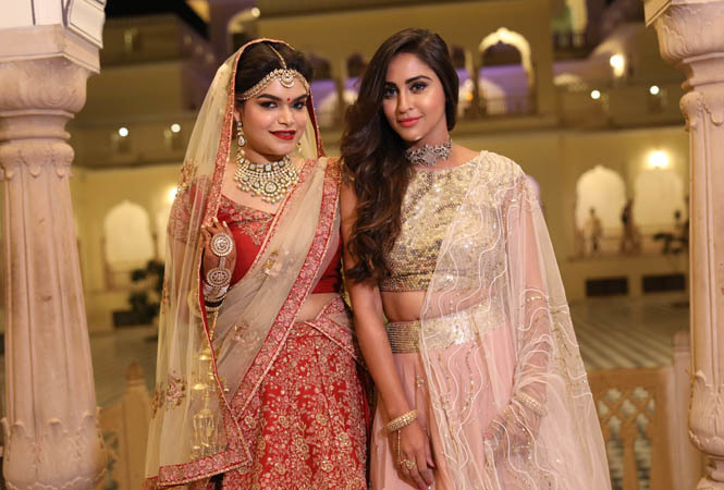 Krystle D'Souza came down to Jaipur to attend the wedding of her friend Shreya