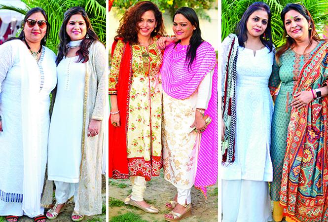 (L) Nandini and Shweta (C) Neha and Sarita (R) Pratibha and Shweta (BCCL/ Pankaj Singh)