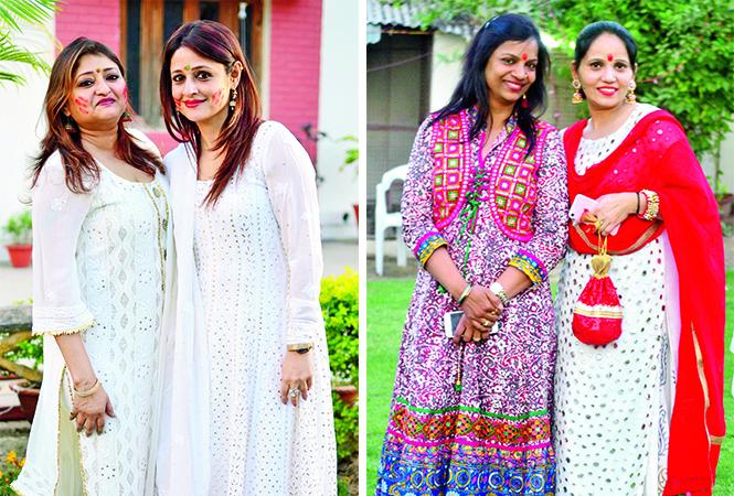 (L) Ruby and Harshi (R) Shalini and Rati (BCCL/ Pankaj Singh)