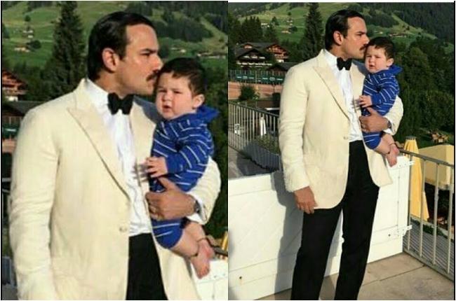 Taimur with Father Saif Ali Khan