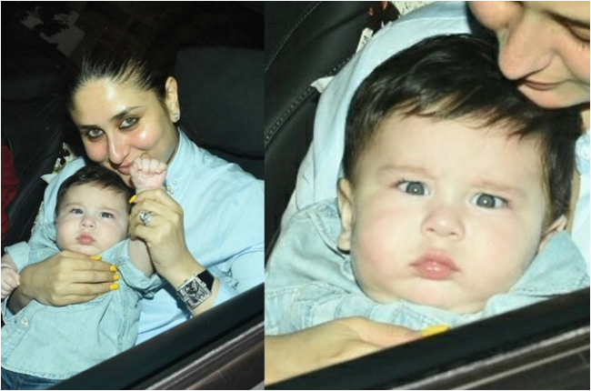 Taimur Ali Khan with Kareena Kapoor Cute click