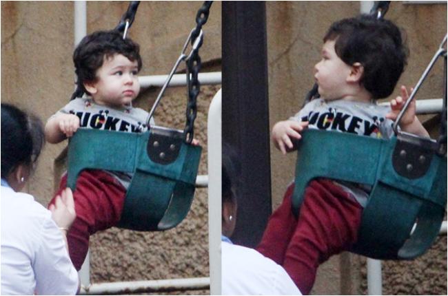 Taimur Ali Khan swinging