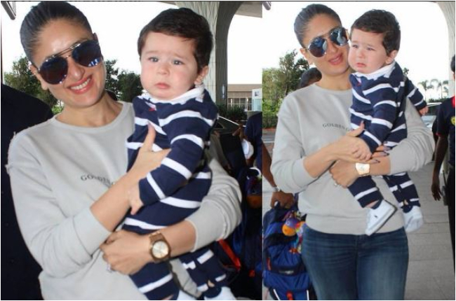 Taimur Ali Khan with mom pictures