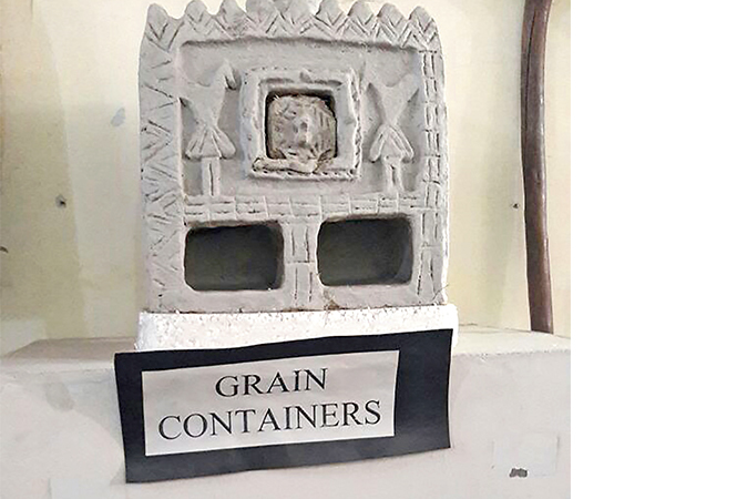 An ancient grain container displayed at the museum (BCCL/ Farhan Ahmad Siddiqui)