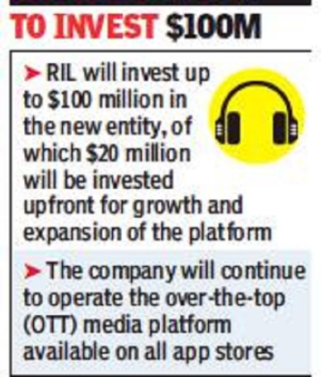 JioMusic, Saavn to merge, create $1bn entity - Times of India