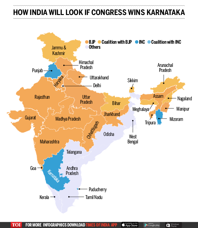 Karntaka map