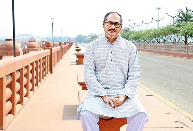 Abhinav Kashyap at Ambedkar Park, Gomti Nagar, Lucknow (BCCL/ Aditya Yadav)