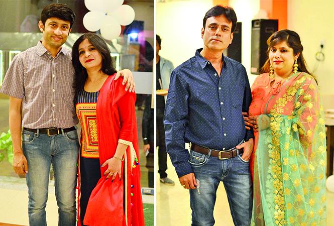 (L) Abhishek and Akansha (R) Kamal and Vinita (BCCL/ Pankaj Singh)