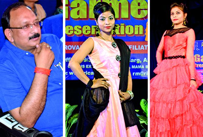 (L) VK Mishra (C) Shivali (R) Preeti (BCCL/ Pankaj Singh)