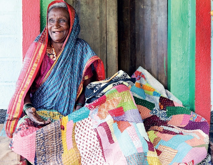 The Siddis are a largely happy community, despite their troubles. Seen here is Mohan Siddi's grandmother