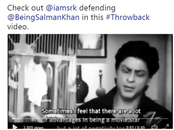 A screen grab of Shah Rukh Khan's video which went viral