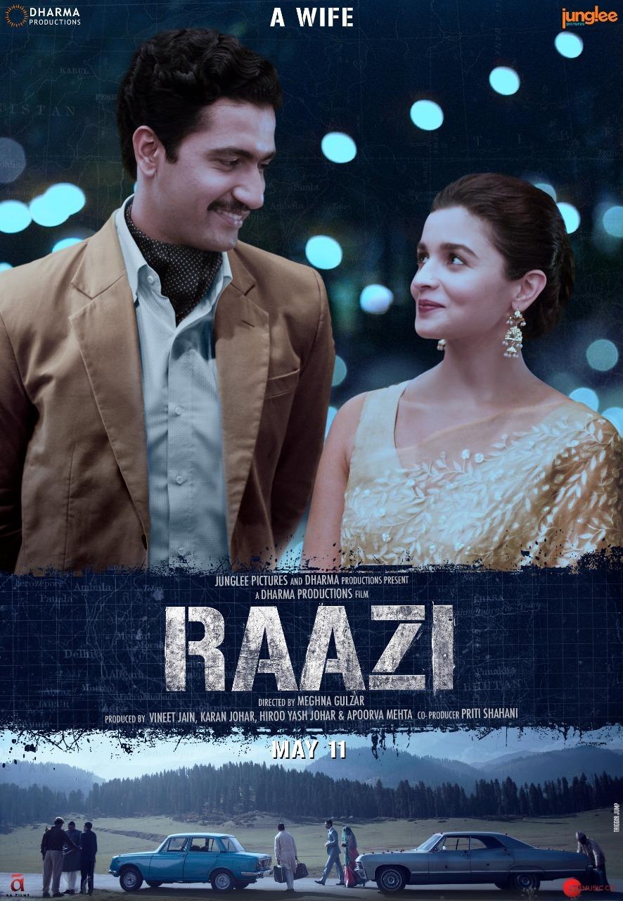 Alia Bhatt and Vicky Kaushal in Raazi First Look Posters