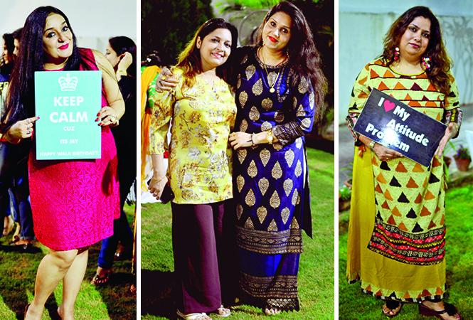 (L) Shubhra (C) Shweta and Akansha (R) Vinita (BCCL/ Pankaj Singh)