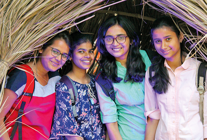 (L-R) Dhammitra, Pragati, Priyanka and Ritu (BCCL/ Arvind Kumar)