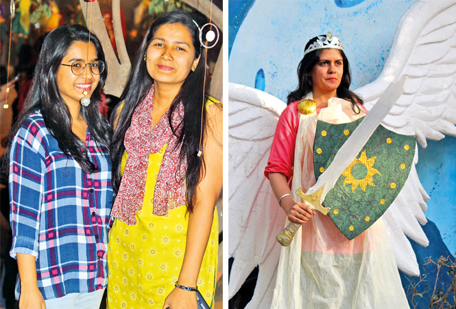 Aditi and Hema (R) Bhakti (BCCL/ Arvind Kumar)