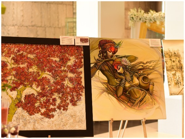 An artwork on display