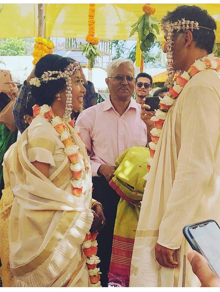 Milind Soman and Ankita Konwar Wedding Pics