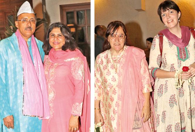 Deepak & Bharati Madhok (R) Meera, and Dreye (BCCL/ Unmesh Pandey)