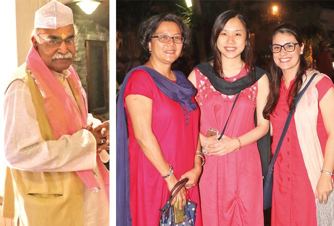 Upendra Kumar (R) Aain, Nao Suzuki and Hania (BCCL/ Unmesh Pandey)