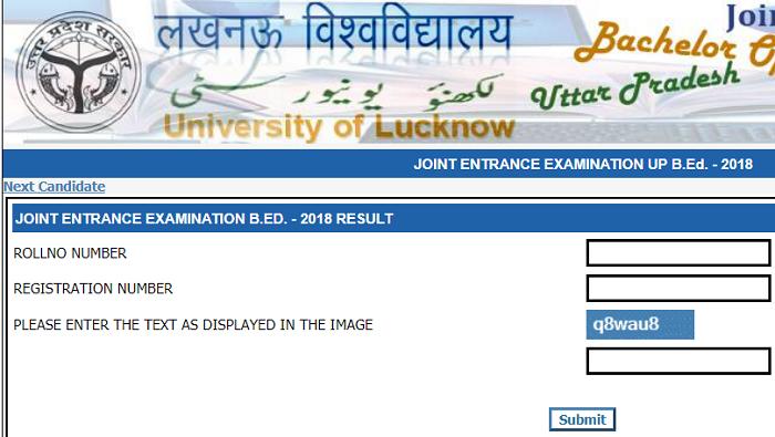 UP BEd Result 2018: UP B Ed  JEE 2018 result declared